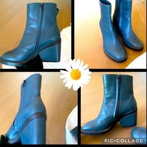 Robert Clergerie heeled leather ankle boots 39/9